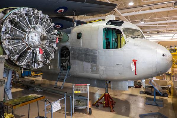 Grumann Tracker restoration at Canadian Warplane Heritage museum