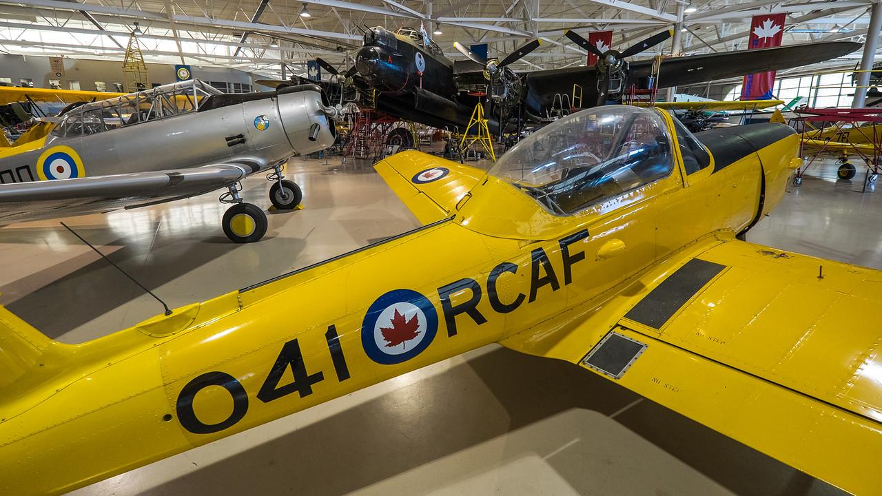 Chipmunk, Yale and Lancaster at Canadian Warplane museum