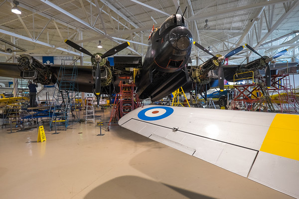 Lacancaster over Yale wing at Canadian Warplane museum