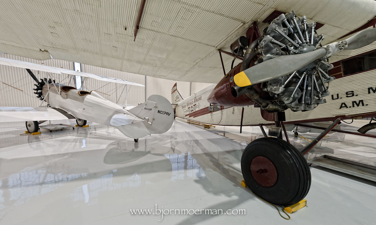 Ford Trimotor and TravelAir at Fantasy of Flight