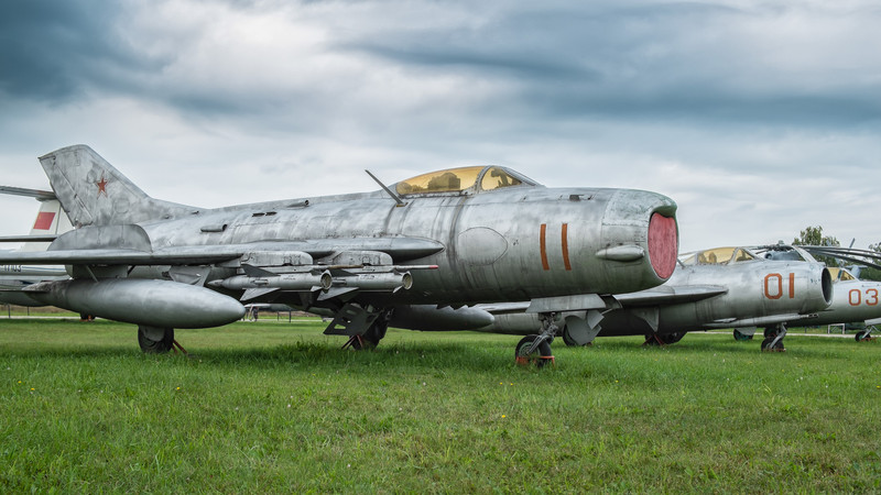 Mig collection, Mig-19, Mig-17 and Mig-15 (L to R)