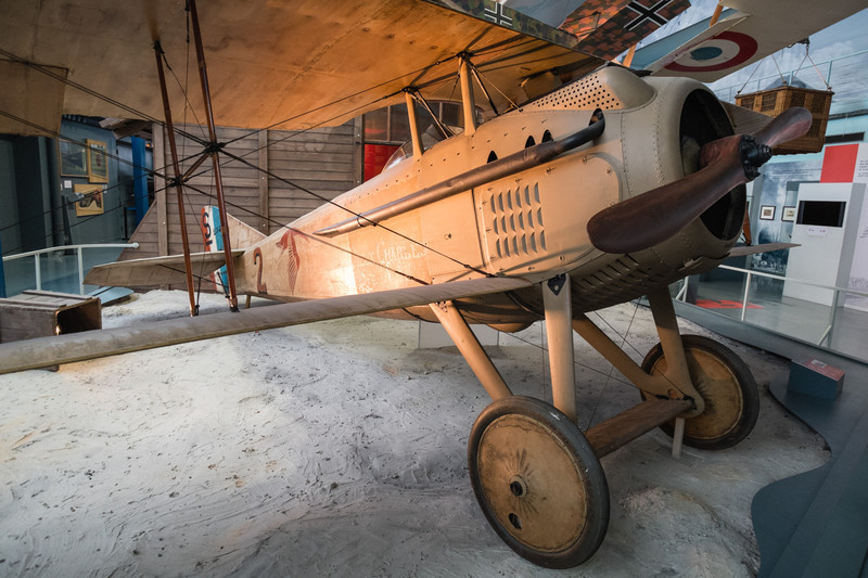 Guynemer's SPAD VII at Musée de l'air, Paris