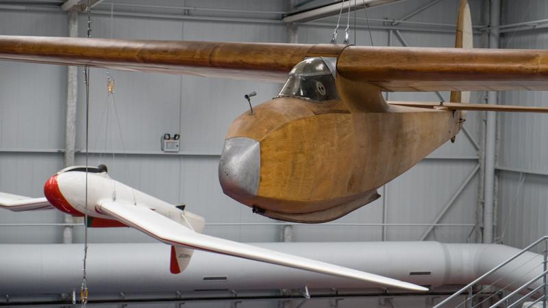 Vintage gliders at the Musée de l'air, Paris