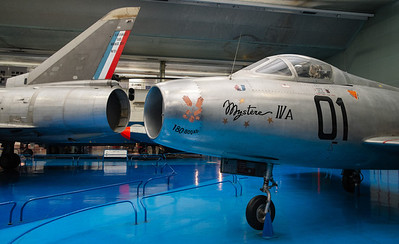 Dassault Mirage 3V and Mystere IVA at Musée de l'air, Paris