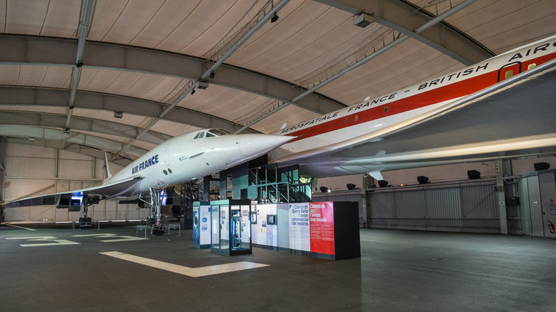 Concorde prototype and Air France at Musée de l'air, Paris