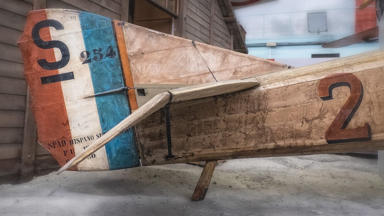 Guynemer's SPAD VII at Musée de l'air, Paris