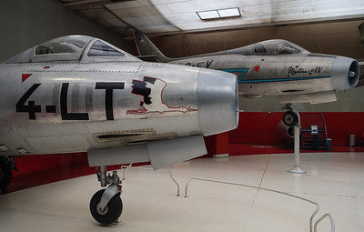 Ouragan and Mystere IV at Musée de l'air, Paris