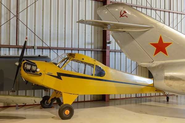 Piper Cub J-3 and Mig-15