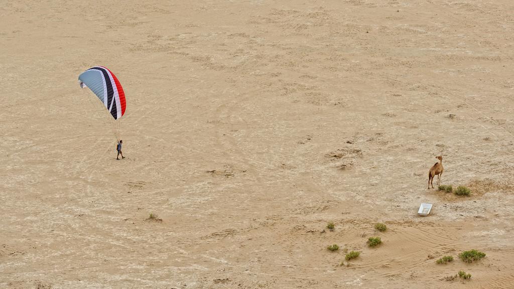 Paragliding in the Empty Quarter, UAE