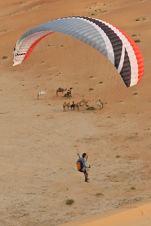 Paragliding in the Empty Quarter, UAE