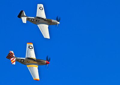 P-51 Mustangs  These Mustangs belong to The Horseman Flying Team