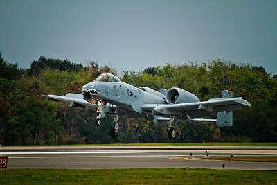 A-10 Warthog landing at NAS-JAX