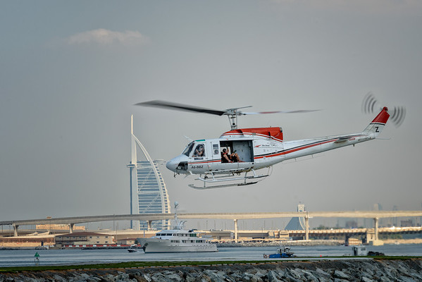 Bell 212 at 2012 Mondial Skydive Dubai