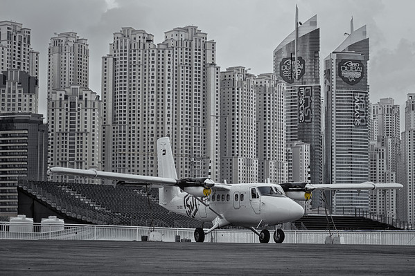 Skydive Dubai Twin Otter at the Dubai Marina DZ