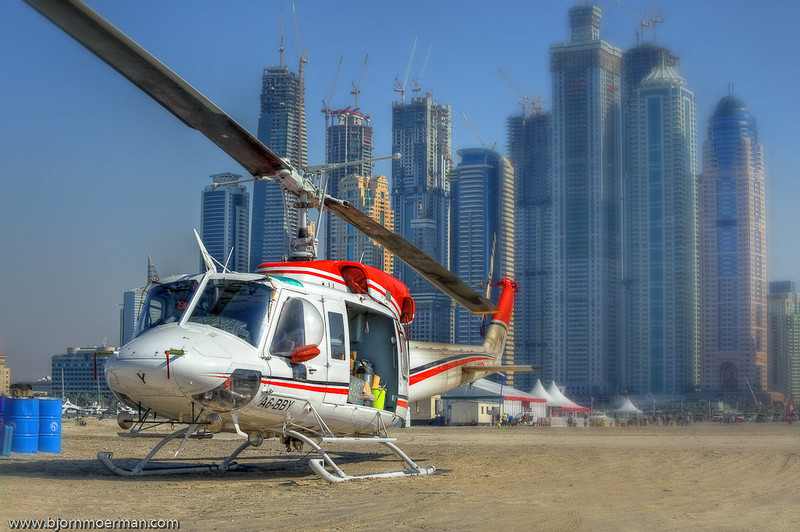 Jumpship Bell 212 Helicopter during Dubai Parachuting Championship and Gulf Cup 2010