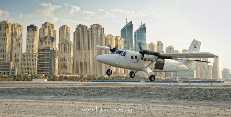 Twin-otter on take-off at Skydive Dubai