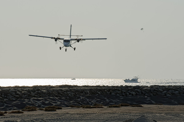 Twin Otter landing at Skydive Dubai