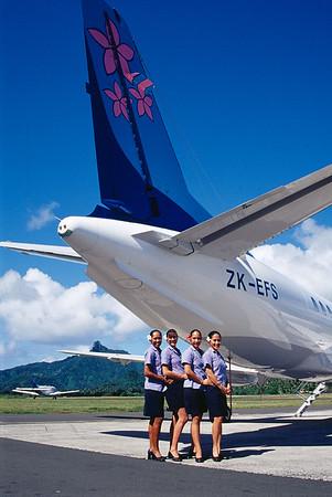First Cook Islands Flight Attendants