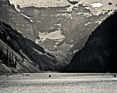 2nd PLACE RED RIBBON, Washington County Fair Photography Exhibition 2014  Class:  Black and White Lot:  Landscape Description:  Banff Lake Louise at Banff National Park in Alberta, Canada  © Copyright Hannah Pastrana Prieto