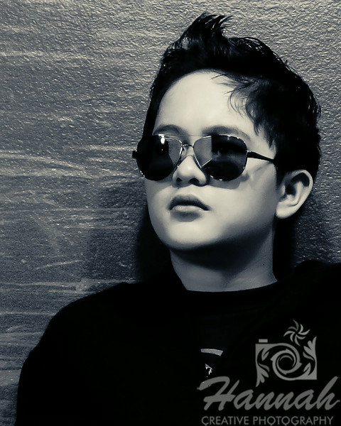 2nd PLACE RED RIBBON, Washington County Fair Photography Exhibition 2014  Class:  Black and White Lot:  Portrait Description:  Portrait of a teenage boy wearing shades  © Copyright Hannah Pastrana Prieto