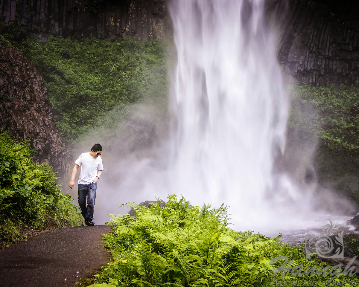 2nd PLACE RED RIBBON, Washington County Fair Photography Exhibition 2014  Class:  Color Prints Lot:  Candid - Adult or Child Description:  Candid shot of a boy walking at the trail of Latourell Falls in Columbia River Gorge Scenic Area, OR  © Copyright Hannah Pastrana Prieto