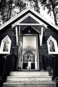"HONORABLE MENTION, Washington County Fair Photography Exhibition 2012  Class:  Black & White  Lot:  Candid-Child  Description:  A boy praying at a small chapel, St.Anne's Chapel at ""The Grotto"" in Portland, Oregon  © Copyright Hannah Pastrana Prieto"