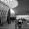 The New Kings Cross Station London in Black and White