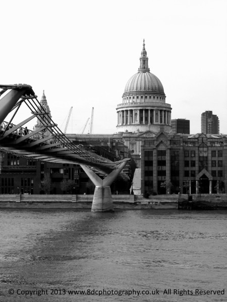 St. Paul's Cathedral London Black and White