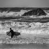 Black and White Surfer