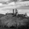 Corfe Castle, Black and White