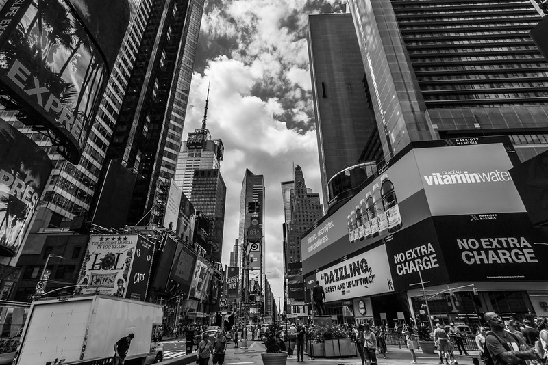 Times Square Black and White