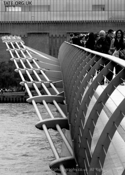 The Millemium Bridge London in Black and white