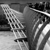 The Millemium Bridge London in Black and white