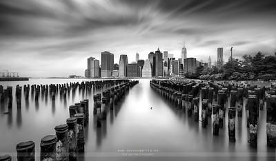 Manhattan from Brooklyn B&W
