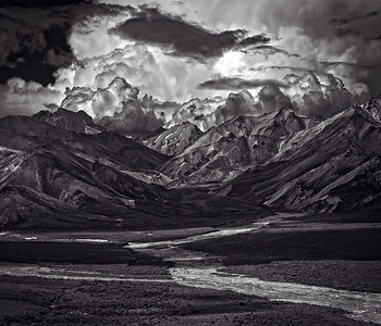 Denali [1] |Mountains, Braided River |AK