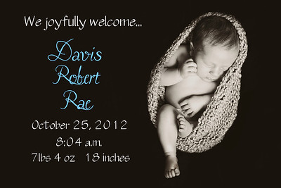 baby davis announcement