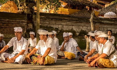 Balinese men turned out for village ceremony