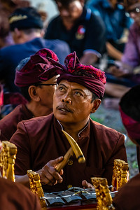 Balinese gentleman, playing the gamelan,