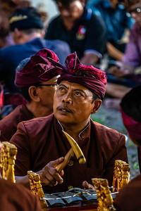 Balinese gentleman, playing the gamelan,