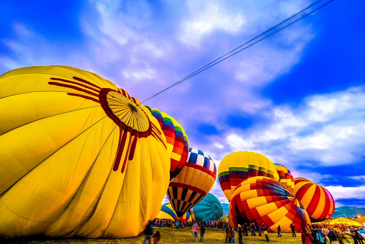 Clouds Over New Mexico - Balloon Fiesta 2014