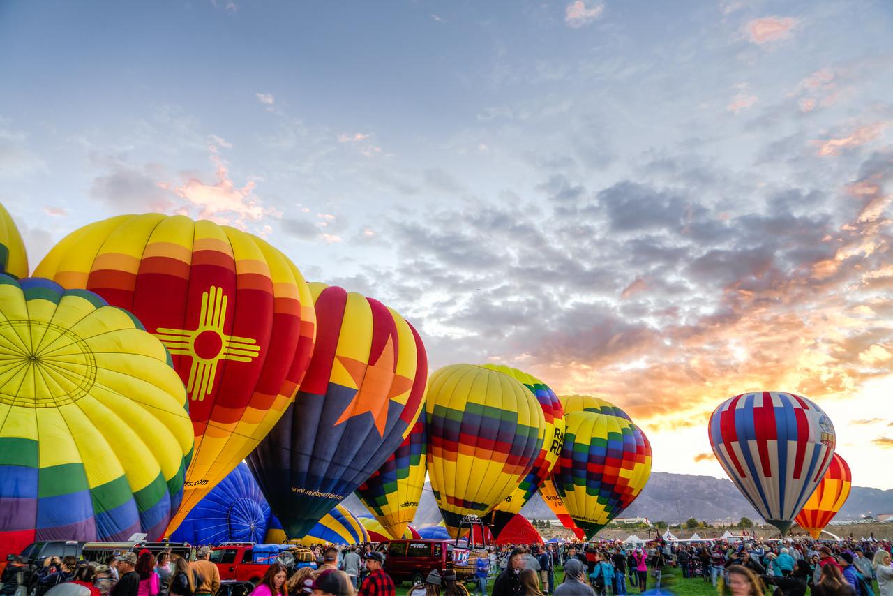 Sunrise at Balloon Fiesta 2016