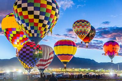 Aerial Dawn Patrol - Balloon Fiesta 2016