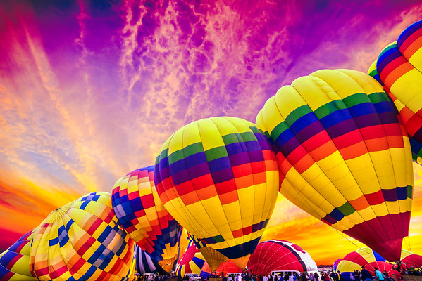 Starburst Sunrise  - Balloon Fiesta 2014