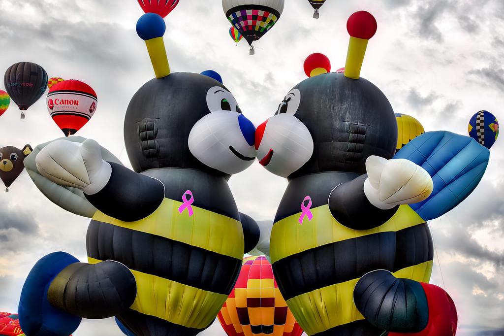 Bees Kissing at Balloon Fiesta 2015