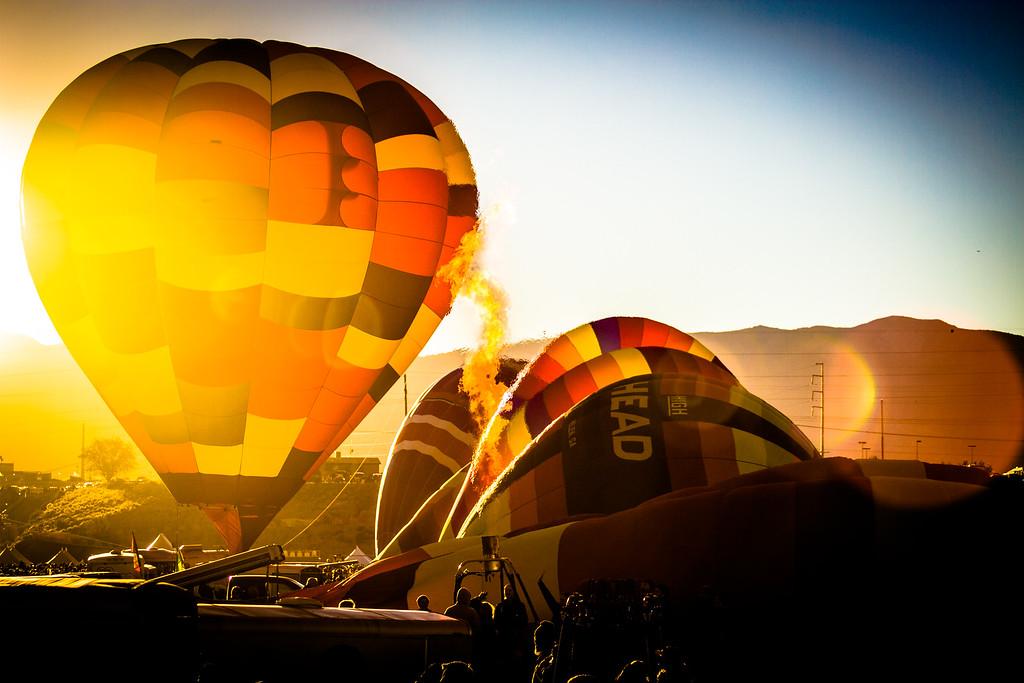 Warming Up for Balloon Fiesta