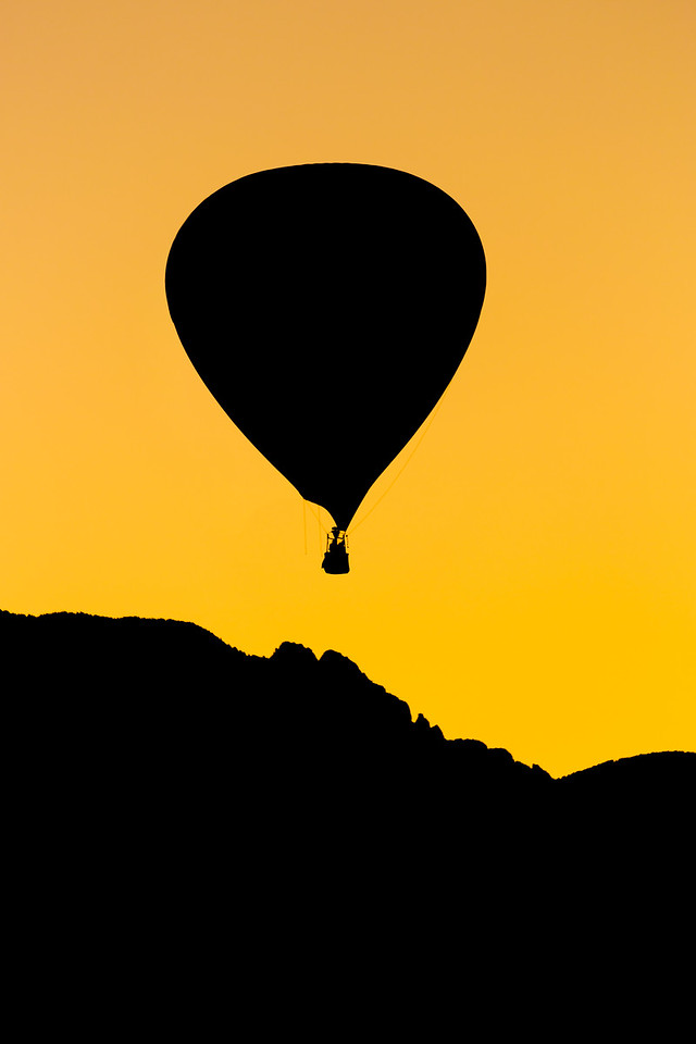 Sunrise Balloon Silhouette