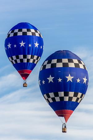 Twin Racing Balloons at Fiesta 2014