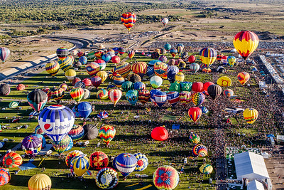 Aerial Mass Ascension - Balloon Fiesta 2013