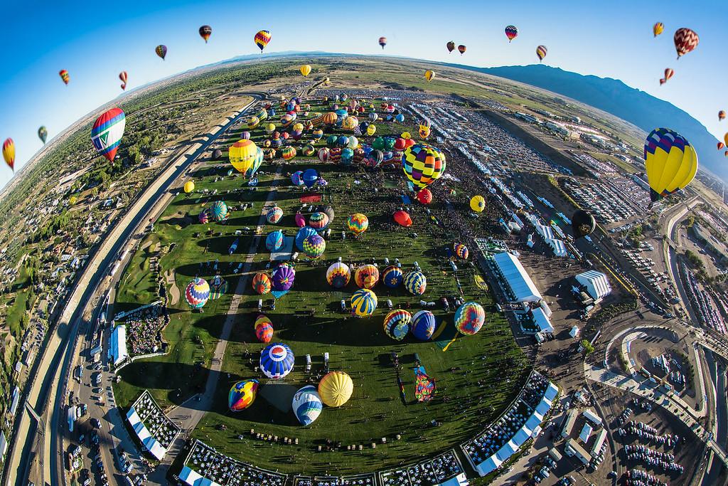Fisheye Mass Ascension - Balloon Fiesta 2013