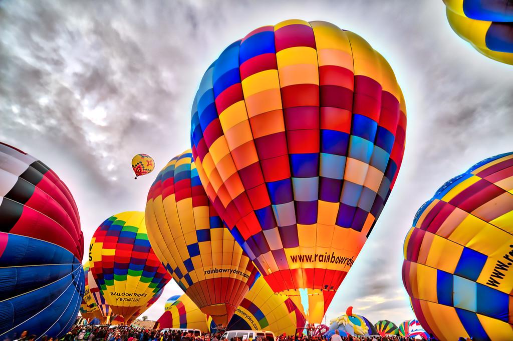 Mass Ascension at Balloon Fiesta 2014